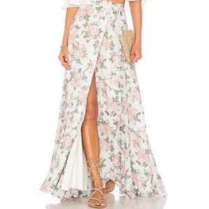 Lovers and friends maxi wrap skirt